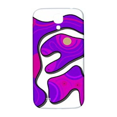 Purple Graffiti Samsung Galaxy S4 I9500/i9505  Hardshell Back Case by Valentinaart