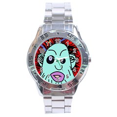 Caveman Stainless Steel Analogue Watch by Valentinaart