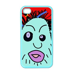 Caveman Apple Iphone 4 Case (color) by Valentinaart