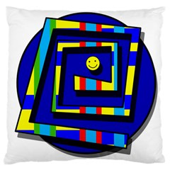 Maze Large Flano Cushion Case (one Side) by Valentinaart