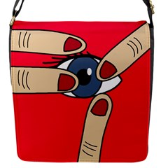 Poke In The Eye Flap Messenger Bag (s) by Valentinaart