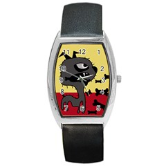 Angry Little Dog Barrel Style Metal Watch by Valentinaart