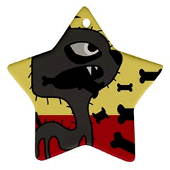 Angry Little Dog Star Ornament (two Sides)  by Valentinaart