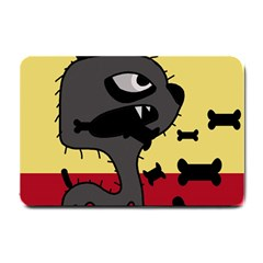 Angry Little Dog Small Doormat  by Valentinaart