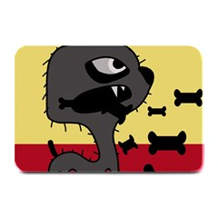 Angry Little Dog Plate Mats by Valentinaart