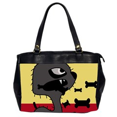 Angry Little Dog Office Handbags (2 Sides)  by Valentinaart