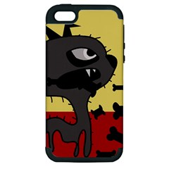 Angry Little Dog Apple Iphone 5 Hardshell Case (pc+silicone) by Valentinaart
