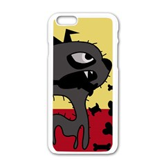 Angry Little Dog Apple Iphone 6/6s White Enamel Case by Valentinaart