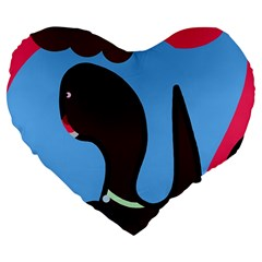 Sea Monster Large 19  Premium Heart Shape Cushions