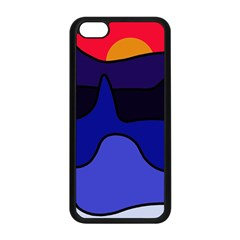 Waves Apple Iphone 5c Seamless Case (black) by Valentinaart