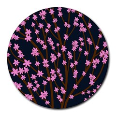 Japanese Tree  Round Mousepads by Valentinaart