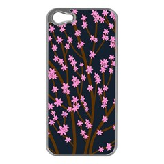 Japanese Tree  Apple Iphone 5 Case (silver) by Valentinaart