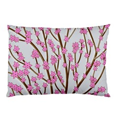 Cherry Tree Pillow Case by Valentinaart