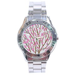 Cherry Tree Stainless Steel Analogue Watch