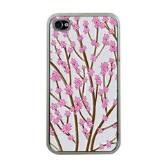 Cherry Tree Apple Iphone 4 Case (clear) by Valentinaart
