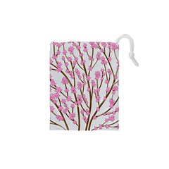 Cherry Tree Drawstring Pouches (xs)  by Valentinaart