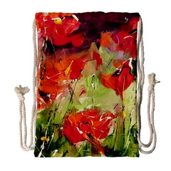 Abstract Poppys  Drawstring Bag (large) by artistpixi