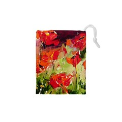 Abstract Poppys  Drawstring Pouches (xs)  by artistpixi