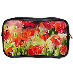 Abstact Poppys Art Print Toiletries Bags 2 Side by artistpixi