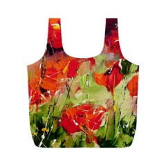 Abstact Poppys Art Print Full Print Recycle Bags (m)  by artistpixi