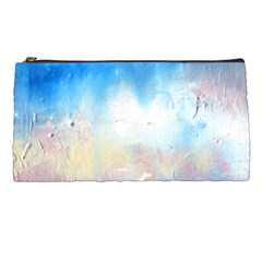 Abstract Blue And White Art Print Pencil Cases by artistpixi