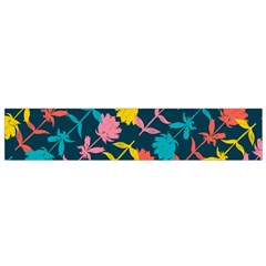 Colorful Floral Pattern Flano Scarf (small) by DanaeStudio