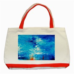 Wild Sea Themes Art Prints Classic Tote Bag (red)