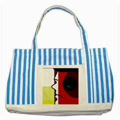 Secret Striped Blue Tote Bag by Valentinaart