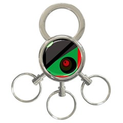 Billiard  3 Ring Key Chains by Valentinaart