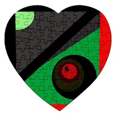 Billiard  Jigsaw Puzzle (heart) by Valentinaart
