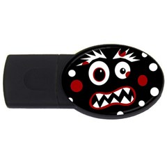 Madness  Usb Flash Drive Oval (4 Gb)  by Valentinaart