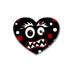 Madness  Rubber Coaster (heart)  by Valentinaart