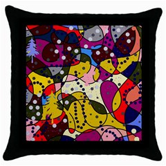 New Year Throw Pillow Case (black) by Valentinaart