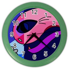 Strange Love Color Wall Clocks by Valentinaart