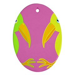 Parrots Ornament (oval)