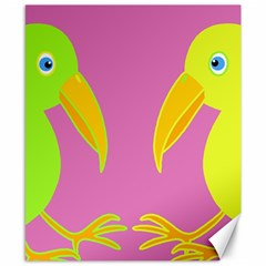 Parrots Canvas 8  X 10  by Valentinaart