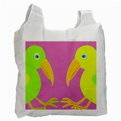 Parrots Recycle Bag (one Side)