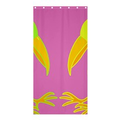 Parrots Shower Curtain 36  X 72  (stall)  by Valentinaart