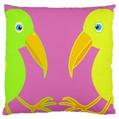 Parrots Large Cushion Case (two Sides) by Valentinaart