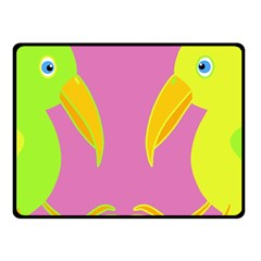 Parrots Double Sided Fleece Blanket (small)  by Valentinaart