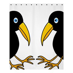 Ravens Shower Curtain 60  X 72  (medium)  by Valentinaart