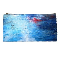 Abstract Blue And White Print  Pencil Cases by artistpixi