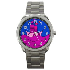 Boat Sport Metal Watch by Valentinaart