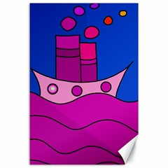 Boat Canvas 24  X 36  by Valentinaart