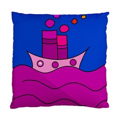 Boat Standard Cushion Case (two Sides) by Valentinaart