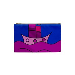 Boat Cosmetic Bag (small)  by Valentinaart
