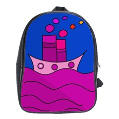 Boat School Bags(large)  by Valentinaart