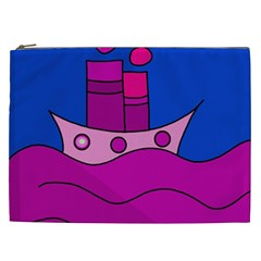 Boat Cosmetic Bag (xxl)  by Valentinaart