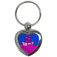 Boat Key Chains (heart)  by Valentinaart