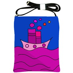 Boat Shoulder Sling Bags by Valentinaart